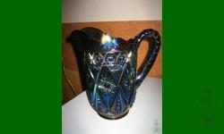 Diamond Lace, Imperial. Pichet à  eau. Bleu, électrique