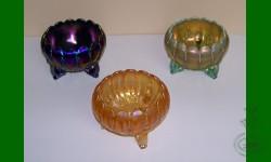 1er prix du Tirage annuel 2009: Leaves and Beads. Trio de coupes de roses
