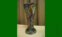 Hobstar NuCut, Imperial. Vase. Ambre