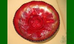 Vintage, Fenton. Bol, bordure relevée. Rouge