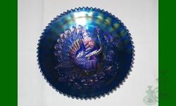 Peacock. Assiette. Bleu