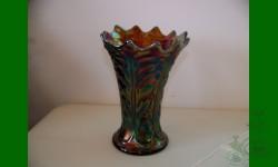 Vase Leaf Columns améthyste de Northwood
