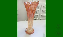 Big Basketweave, Dugan. Vase orangée