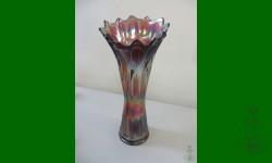 Diamond and Rib, Fenton. Vase funéraire. Améthyste