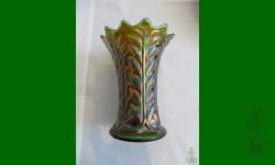 Leaf Columns, Northwood. Vase, trapu. Vert