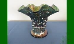 April Showers vases, Fenton. Vase, trapu. Vert