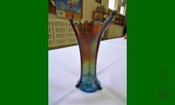 Drapery, Northwood. Vase. Bleu saphir