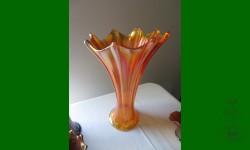 Morning Glory, Imperial. Vase funéraire. Orangé